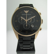 Emporio Armani Ar5905 Lyricon Sports Black Gold Rose Chrono
