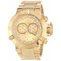 Relógio Invicta Subaqua Noma 3 Iii 14500 Gold 18k Novo