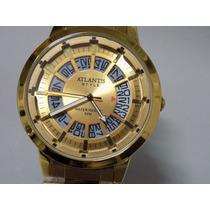 Relogio Atlantis 3092 Dourado Original Frete Grátis