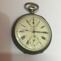 Raro Relogio Cronometro De Bolso Em Prata Minerva