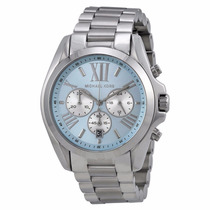 Michael Kors Mk6099 Bradshaw Baby Blue Chronometer Oversized