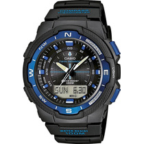 Relógio Casio Sgw-500h Azul Bussola Original Novo Sgw-500