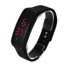 Relógio Digital De Led Com Pulseira De Silicone