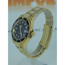 Relógio Submariner Perpetual Gold Black Oyster Frete Grátis