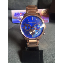 Relogio Michael Kors Mk5911 Rose E Azul Original C/ Caixa