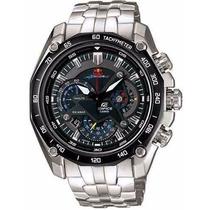 Relógio Casio Edifice Black Silver Frete Gratis 12x S/ Juros