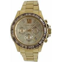 Relógio Michael Kors Mk5849 Dourado Garantia, Origicom Caixa