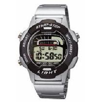Relógio Casio W729 Aço 100m Alarme Crono W 729 Db36
