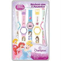 Relógio Infantil Digital Troca Pulseiras Champion Disney Fem