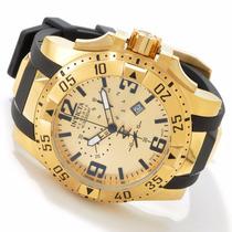 Relógio Invicta 6267 Excursion 50mm Banhado A Ouro 18k