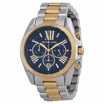 Relógio Michael Kors Mk5976 Prata Dourado Azul Frete Grátis.