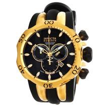 Relógio Invicta Venom - 10833 Banhado Ouro 18 K Com Caixa