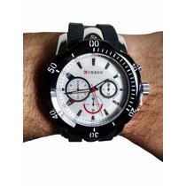 Relógio Curren Mod. 8163 Branco E Preto Novo Barato