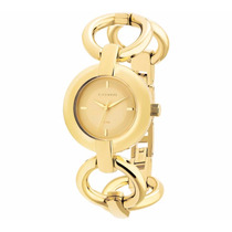 Relógio Technos Feminino Dourado Trend 2035bbu/4k