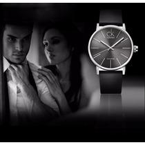 Relógio Quartz Masculino - Feminino Luxo Pulseira Em Couro