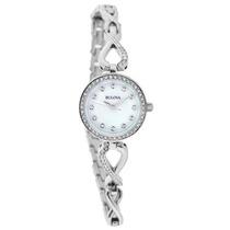 Bulova Cristal Ladies Mop Relógio De Quartzo 96x129