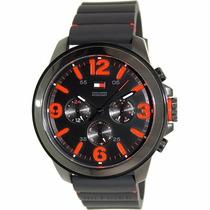 Relógio Esportivo Tommy Preto Hilfiger Pulseira Silicone