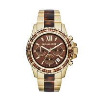Relógio Mk5873 Michael Kors Dourado Tartaruga Marrom Origina