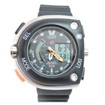 Relógio Masculino Novo Citzem Aqualand Meia Lua Preto