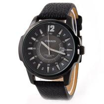Relógio Masculino Curren Analógico Casual Preto 8123