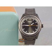 Relógio Fossil Bq1267 Chumbo Aço Inoxidável Original Garanti