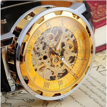 Relógio Skeleton Mecânico De Luxo (promoção)