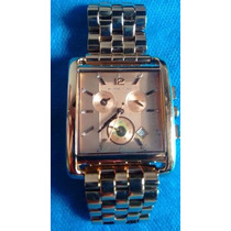 Relógio De Luxo Michael Kors Mk3142 Chron Anal Ouro Rosé
