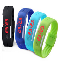 Relógio E Pulseira Corrida Nike Led Digital Várias Cores