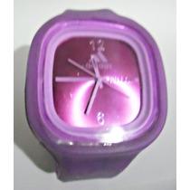 Relógio Adidas Pulseira De Silicone Lilás *liquidação