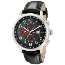 Relógio Tommy Hilfiger 1790859 Pulseira Couro Preto Na Caixa