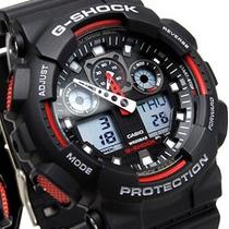 Relógio De Pulso Casio G-shock Ga-100 Masculino Prova D