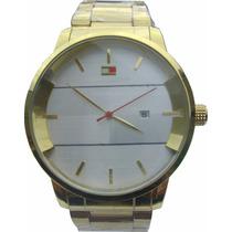 Relógio Pulso Masculino Tommy Hilfiger Dourado Promoção