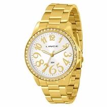 Relógio Lince Dourado Feminino (orient) Lrgj030l Prova Dágua