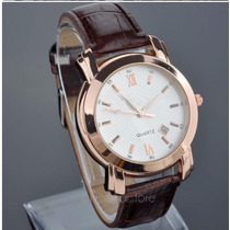 Relógio Masculino Barato Calendário Luxo A Pronta Entrega