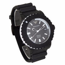 Relogio Emporio Armani Ar5965 Black Rubber Stainless Steel
