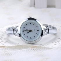 Relógio Feminino Importado Quartz Pulseira Prata/ Dourada