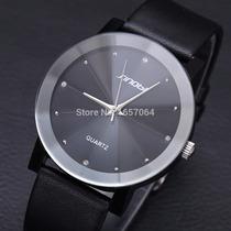 Relógio Sinobi Importado Japonês Em Couro Barato Masculino