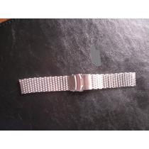 Pulseira, Tipo Mesh Ploprof, Aço Inox Para Relógio, 22/24mm