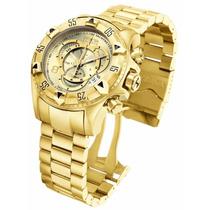 Relógio Invicta Excursion Ouro 18k Caixa Original Sedex