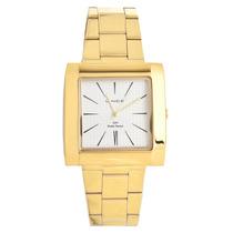 Relógio Lince Dourado Quadrado - Mqg437l