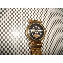 Relógio Alemão Minoir Banhado Ouro Máquina Automáticonovo