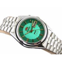 Relógio Orient Automatico Classico Aço Masculino - Verde