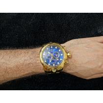 Relógio Modelo Invicta Original Banhado A Ouro 18k