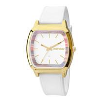 Relógio Feminino Mormaii Mauí Mo2036ad/8b - Branco / Dour...