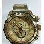Relógio Atlantis Sports Dourado Original A3270 Fundo Dourado