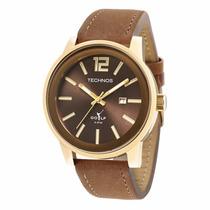 Relógio Technos Classic Golf 2115kmv/2m Pulseira De Couro