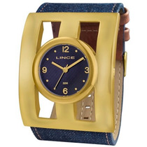 Relógio Lince Orient Feminino Dourado/jeans Lrc4280l