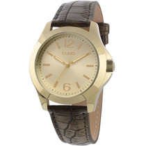 Relógio Analógico Collection Eu2035xye/2x-marrom Euro