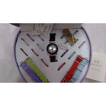 Kit Relógio Feminino Troca Pulseiras - 16 Pulseiras/ 16 Aros