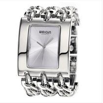 Relógio Weiqin Quadrado Moderno Feminino
